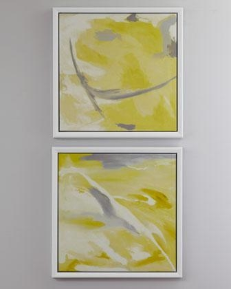 Abstract Giclees – Neiman Marcus Within Yellow And Grey Abstract Wall Art (View 18 of 20)