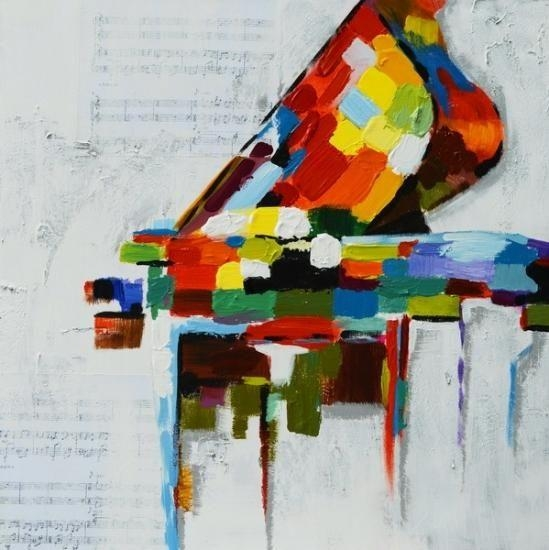 Abstract Grand Piano Painting New Large 100X100 <B>Abstract</b Regarding Abstract Piano Wall Art (Image 5 of 20)