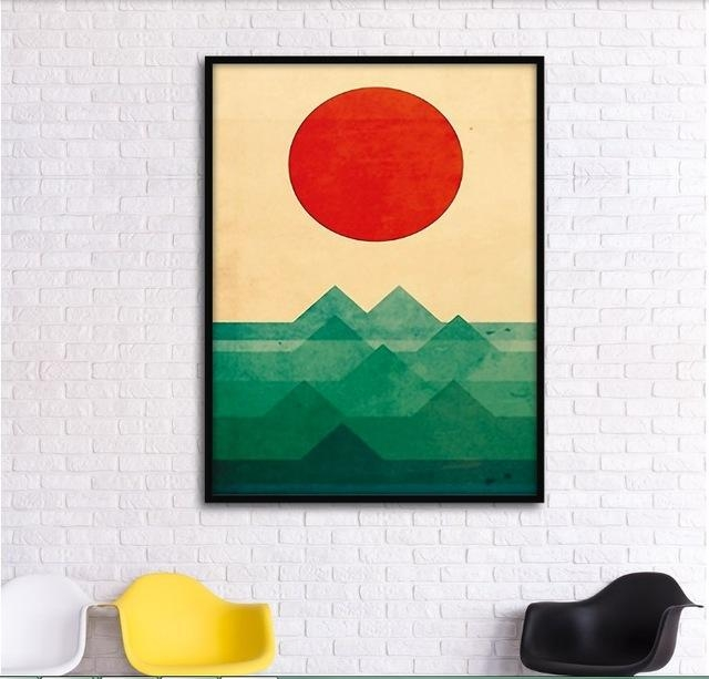Abstract Graphic Combination Mountains Decorative Paintings In Abstract Graphic Wall Art (Image 5 of 20)