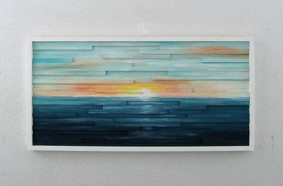 Abstract Landscape Painting On Wood Abstract Wall Art Regarding Abstract Landscape Wall Art (View 3 of 20)