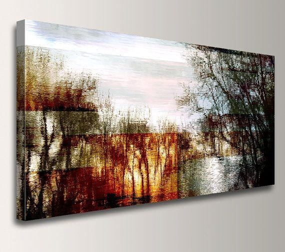Abstract Landscape – Photography – Canvas Print – Panoramic Wall Regarding Panoramic Canvas Wall Art (Image 3 of 20)