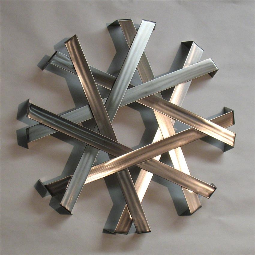 Abstract Metal Wall Art Sculpture – Stainless Steel | Modern Metal Within Abstract Iron Wall Art (Image 6 of 20)