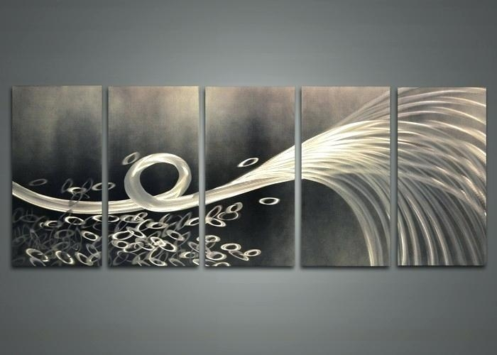 Abstract Metal Wall Decor Abstract Metal Wall Art Painting Techno Intended For Abstract Iron Wall Art (Image 8 of 20)