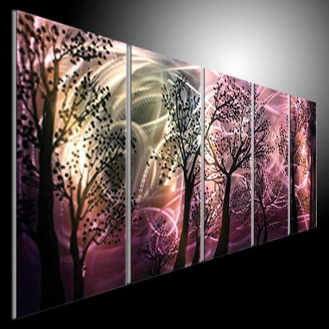 Abstract Modern Metal Wall Art Painting Sculpture Original Orca With Abstract Metal Wall Art Painting (Image 7 of 20)