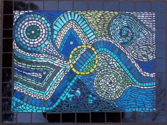 Abstract Mosaic Wall Artcolleengail On Etsy, $ (View 6 of 20)