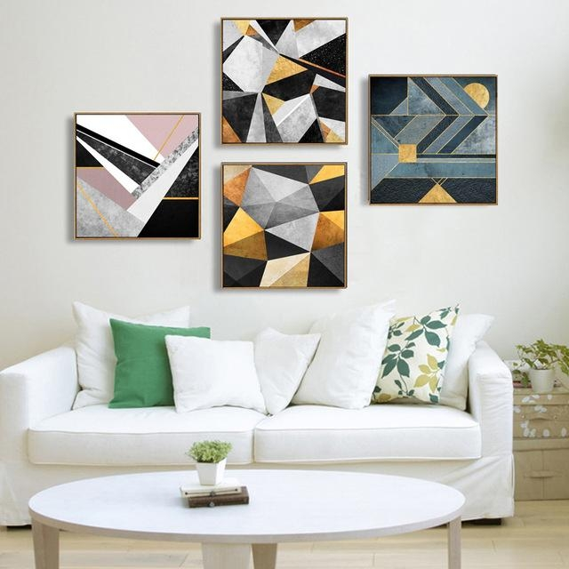 Abstract Multi Colors Canvas Paintings Modern Oil Wall Art Poster With Regard To Abstract Wall Art Posters (Image 3 of 20)