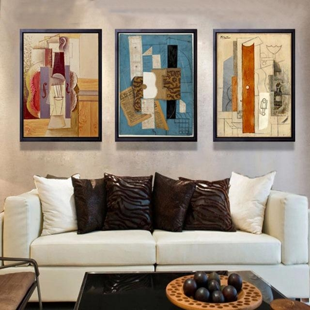 Abstract Multi Colors Piano Canvas Painting Famous Poster And Regarding Abstract Piano Wall Art (Image 6 of 20)