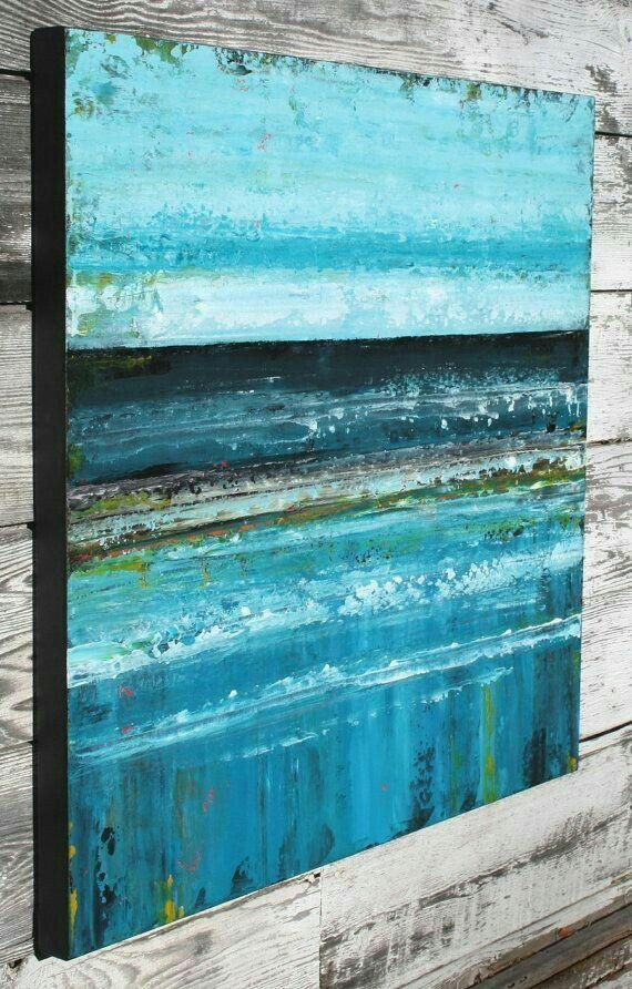 Abstract Ocean Art | Art | Pinterest | Ocean Art, Ocean And Paintings Intended For Abstract Ocean Wall Art (Image 2 of 20)
