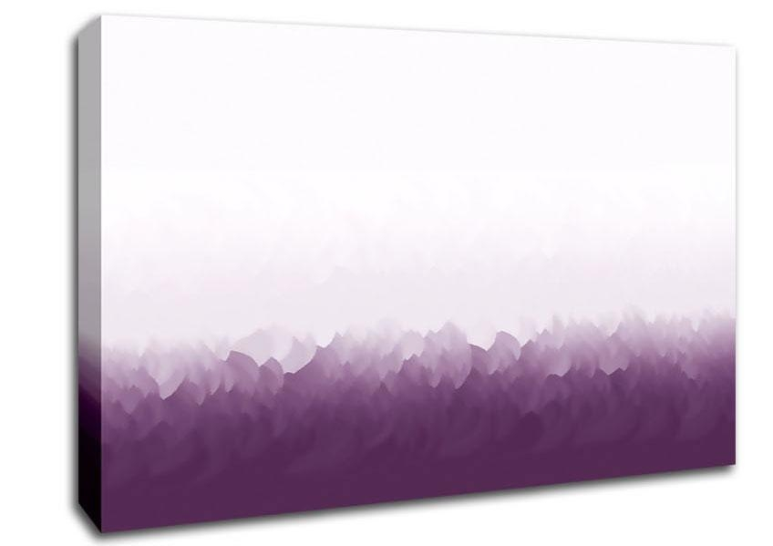 Abstract Ocean Lilac On White Contemporary Canvas Stretched Canvas Inside Abstract Ocean Wall Art (Image 5 of 20)
