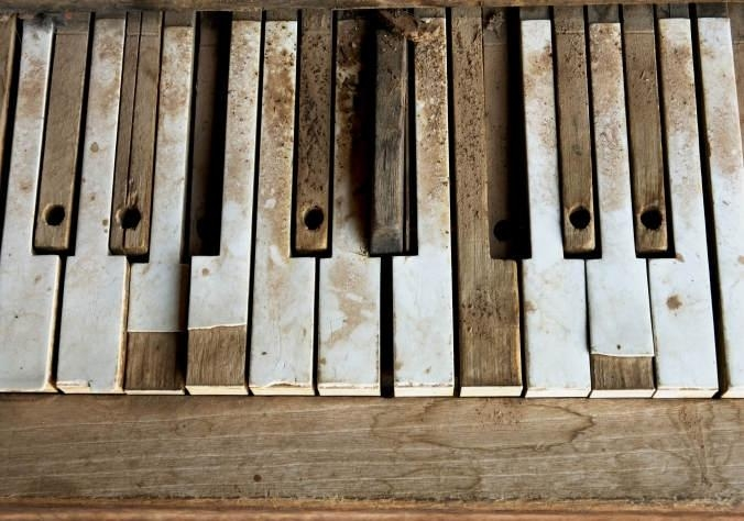 Abstract Old Piano Keys Canvas | Buy Abstract Old Piano Keys Canvas Regarding Abstract Piano Wall Art (Image 7 of 20)