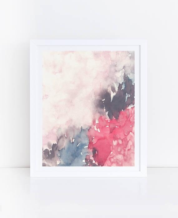 Abstract Printable Art Watercolor Flowers Floral Wall Art With Printable Abstract Wall Art (View 3 of 20)