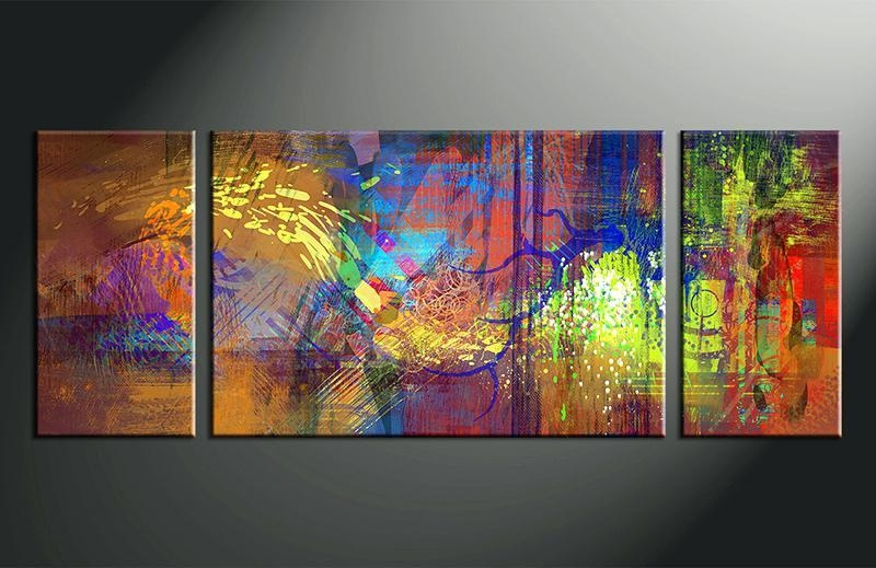 Abstract Wall Art 3 Piece Wall Art Home Decor Abstract Artwork With Abstract Canvas Wall Art Iii (Image 7 of 20)
