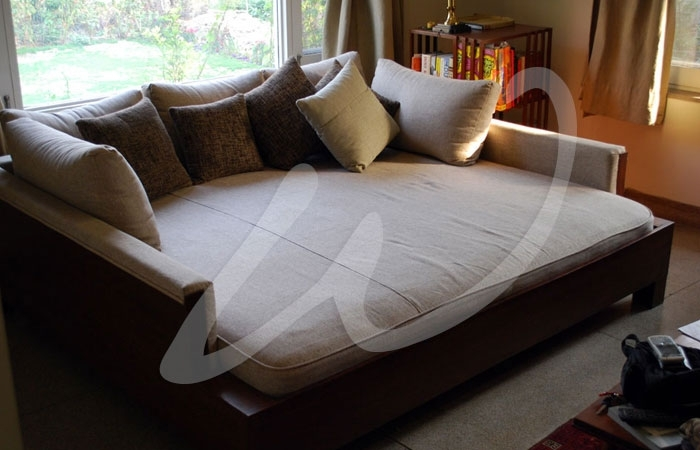 Add A Chunky Cable Knit Throw,fur Pillows And This Would Be Amazing Inside Huge Sofas (Image 1 of 10)
