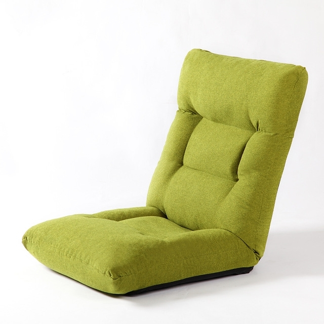 Adjustable Comfort Floor Folding Sofa Chair Home Cushion 4 Colors Inside Folding Sofa Chairs (Image 1 of 10)