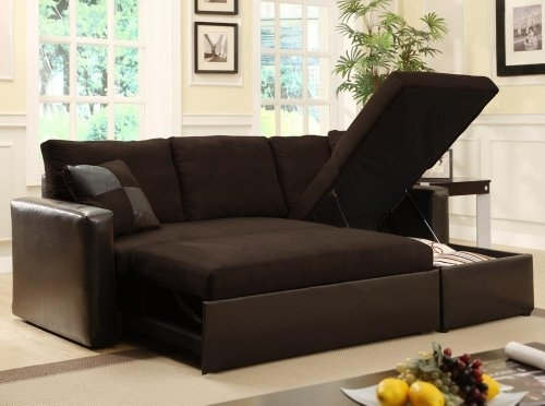 Adjustable Sectional Sofa Bed With Storage Chase From Furnituremaxx Throughout Sectional Sofas That Turn Into Beds (Image 1 of 10)