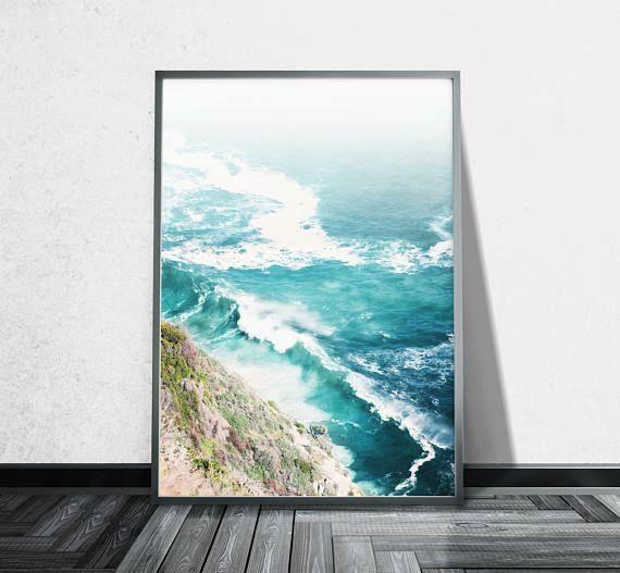 Aerial Beach Photography Ocean Canvas Wall Art Aerial Photography Throughout Cape Town Canvas Wall Art (Image 3 of 20)