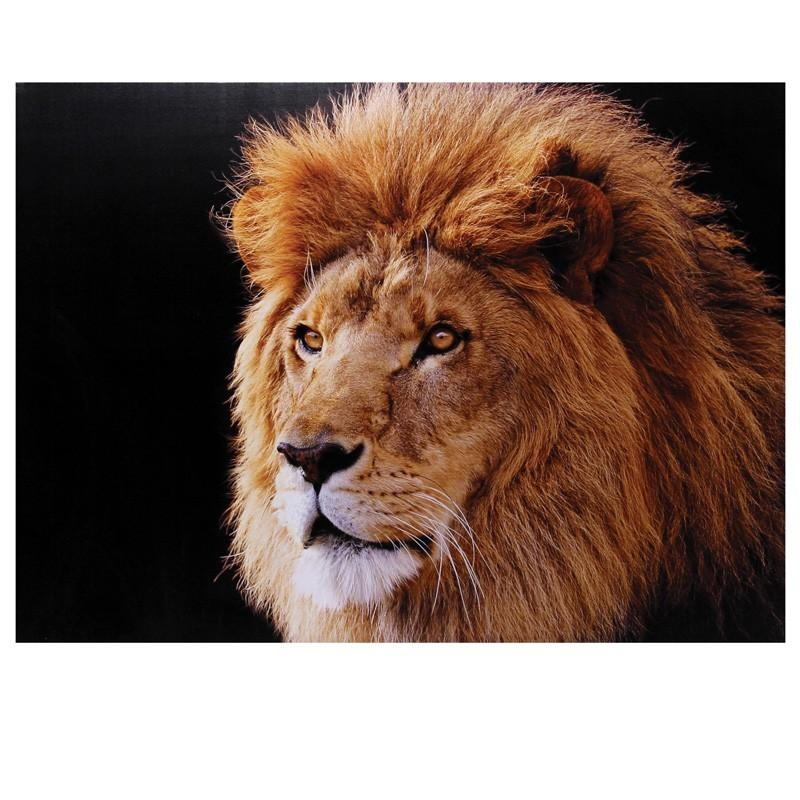 Africa Prints (Lion) For Jysk Canvas Wall Art (Image 1 of 20)