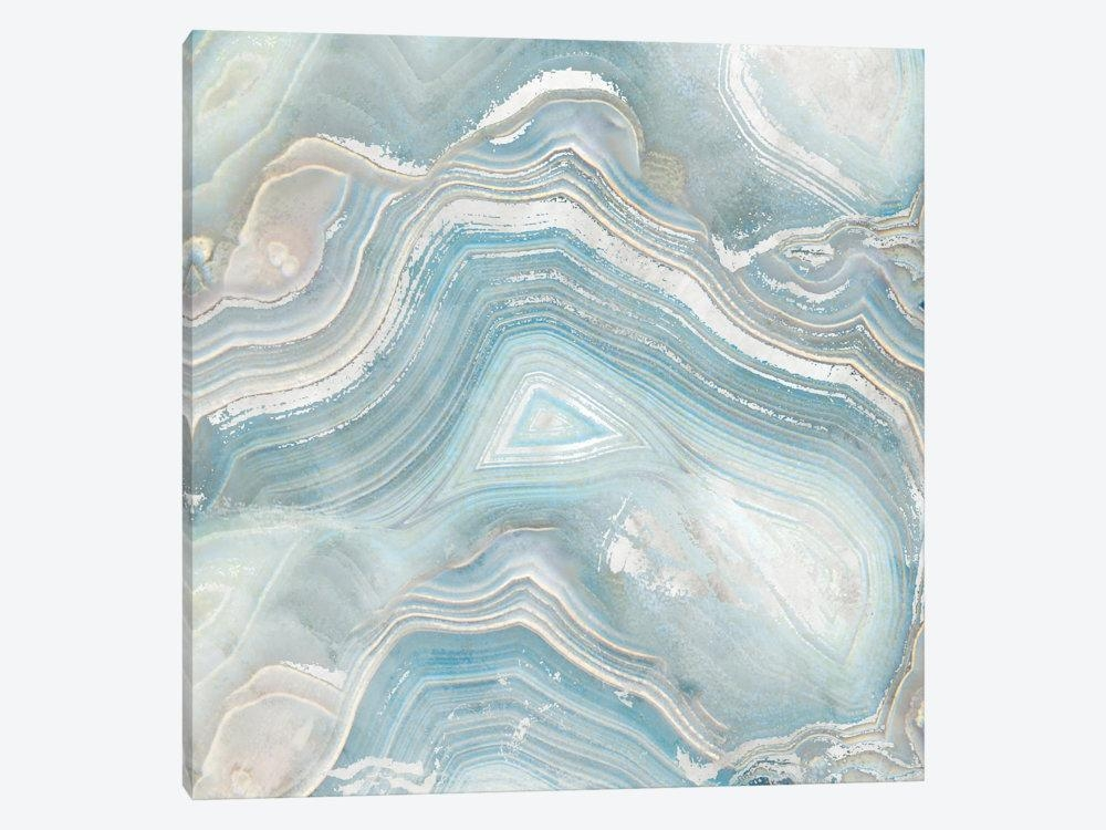Agate In Blue I Canvas Artworknan | Icanvas With Regard To Canvas Wall Art At Wayfair (Image 4 of 20)