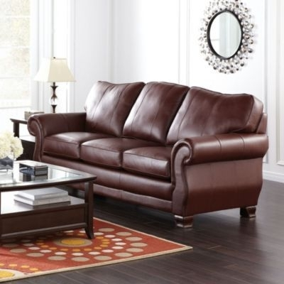 Ainsleigh' Collection Leather Sofa – Sears | Sears Canada (Image 1 of 10)