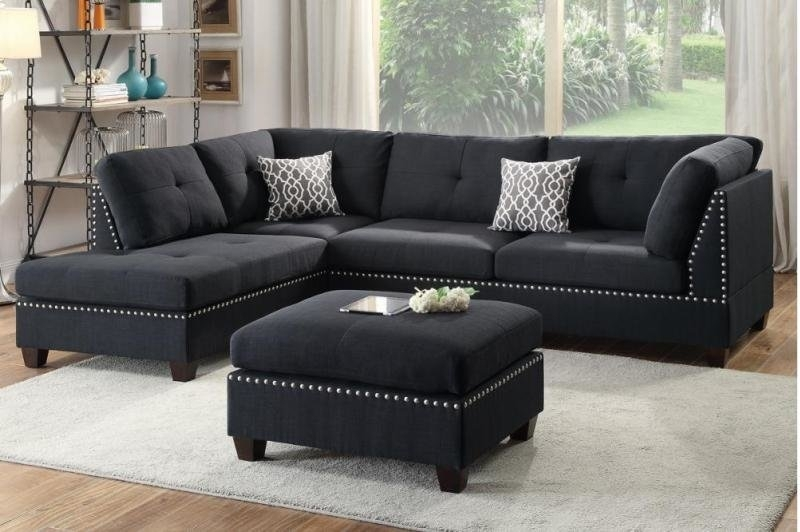 A&j Homes Studio Tammy Sectional With Ottoman & Reviews | Wayfair Throughout Sectionals With Ottoman (Image 2 of 10)