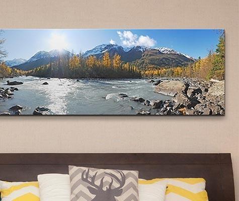 Alaska Panoramic Wall Art – Canvas On Demand With Panoramic Canvas Wall Art (Image 4 of 20)