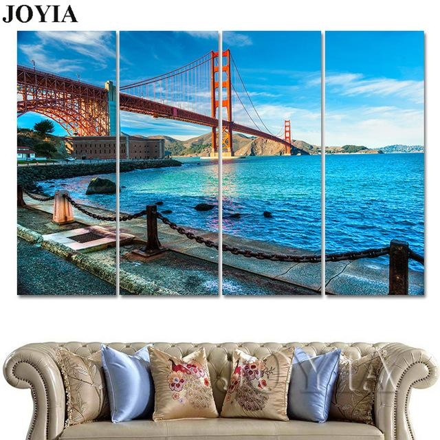 Aliexpress : Buy 3 Piece Golden Gate Bridge Canvas Wall Art For Golden Gate Bridge Canvas Wall Art (Image 5 of 20)