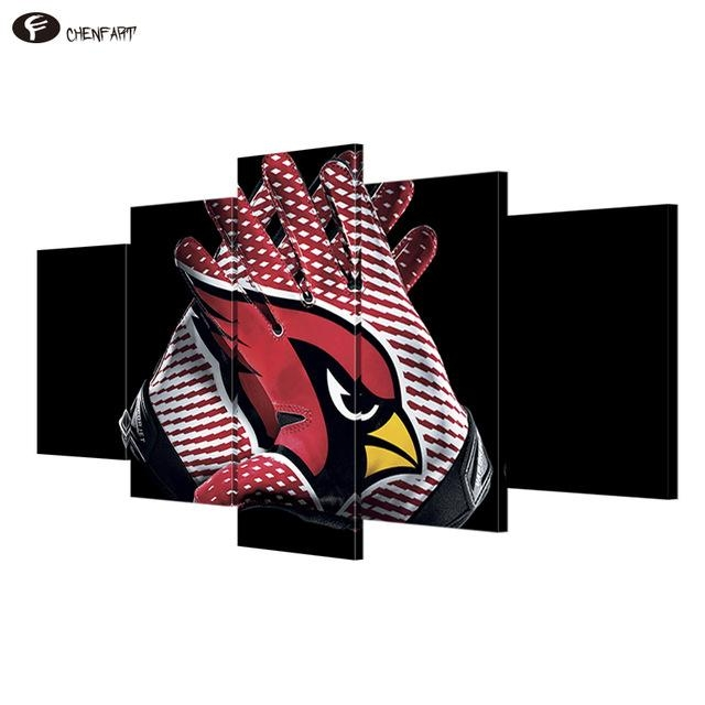 Aliexpress : Buy Chenfart 5 Pieces Canvas Arizona Cardinals Throughout Arizona Canvas Wall Art (Image 6 of 20)
