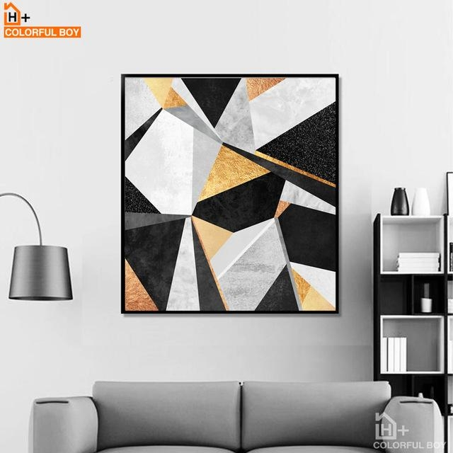 Aliexpress : Buy Colorfulboy Geometry Abstract Wall Art Within Abstract Wall Art Posters (View 16 of 20)