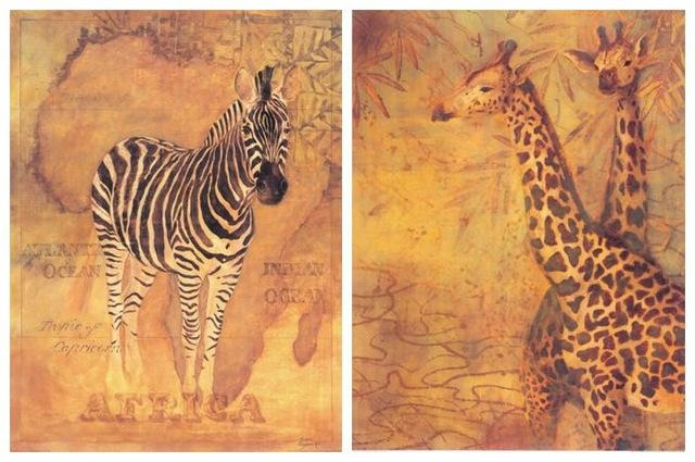 Aliexpress : Buy Free Shipping Classical Zebra Giraffe Canvas Pertaining To Giraffe Canvas Wall Art (Image 3 of 20)