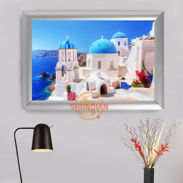 Aliexpress : Buy Greece Custom Frame Painting Canvas Prints For Greece Canvas Wall Art (Image 6 of 20)