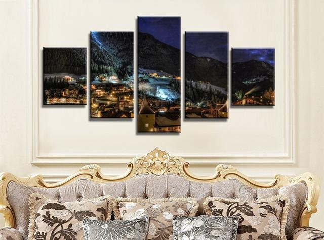 Aliexpress : Buy Nightlight In Italy Canvas Painting Wall Art Within Italy Canvas Wall Art (Image 7 of 20)