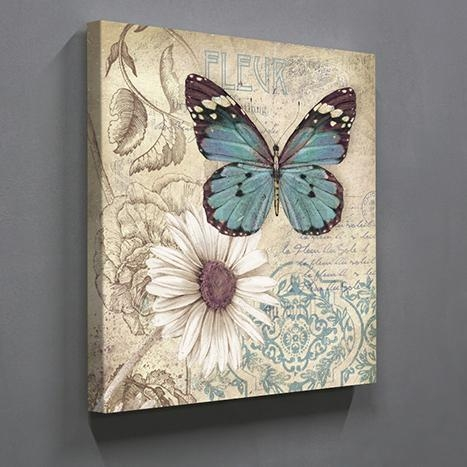 Aliexpress : Buy Single Panel Butterfly Home Decor Wall Art With Regard To Butterflies Canvas Wall Art (Image 4 of 20)