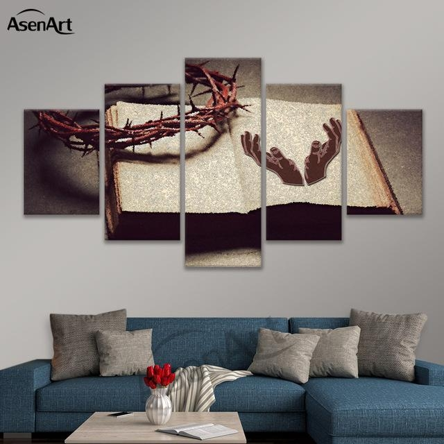 Aliexpress : Buy Wall Art Basic Christian Beliefs Jesus Canvas Intended For Jesus Canvas Wall Art (Image 8 of 20)