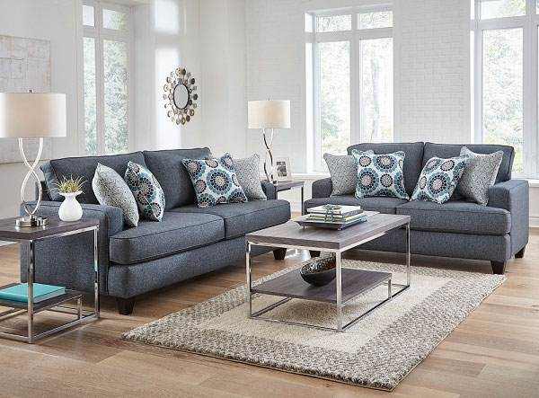 Alluring 2 Piece Carmela Living Room Collection At Aarons Furniture In Sectional Sofas At Aarons (Image 5 of 10)