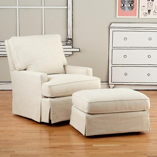 Alluring Glider Chair With Ottoman Ba Nursery Nursery Glider With Regard To Gliders With Ottoman (Image 2 of 10)
