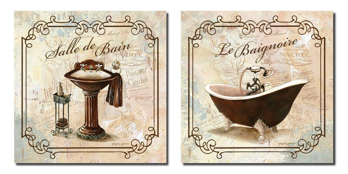 Amazing Bathroom Wall Art Pertaining To Bath Decor Canvas Pictures Inside Bathroom Canvas Wall Art (View 20 of 20)