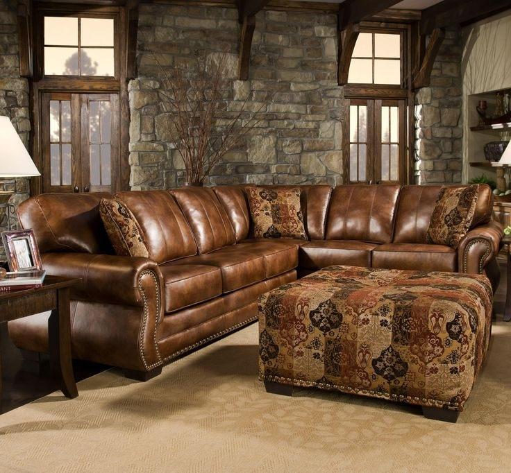 Amazing Catchy Rustic Sectional Sofas With Chaise Top Leather In With Western Style Sectional Sofas (Image 1 of 10)