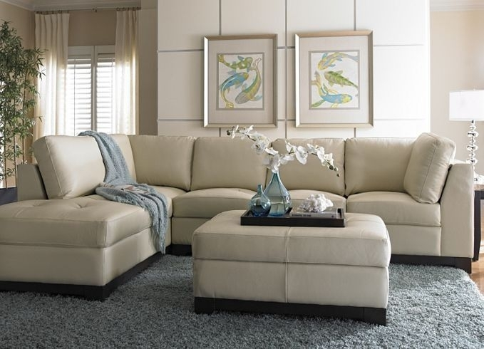 Amazing Colored Leather Sofas Rochester Ivory Within Cream Color Throughout Cream Colored Sofas (Image 1 of 10)