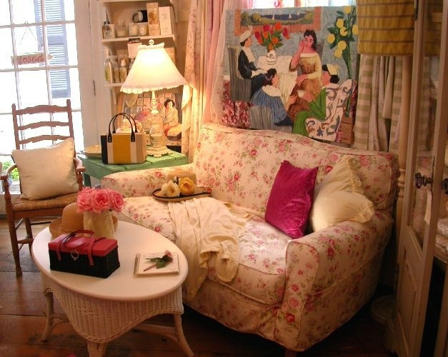 Amazing Cottage Sofa #8 Shabby Chic Country Cottage Floral Sofa Pertaining To Country Cottage Sofas And Chairs (Image 1 of 10)