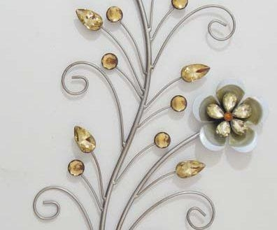 Amazing Floral Metal Wall Art Con Fine Site With Abstract Flower Metal Wall Art (Photo 18 of 20)