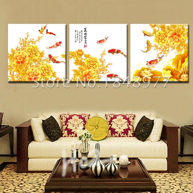 Amazing Koi Wall Art Photos – Wall Art Design – Leftofcentrist With Regard To Koi Canvas Wall Art (View 15 of 20)