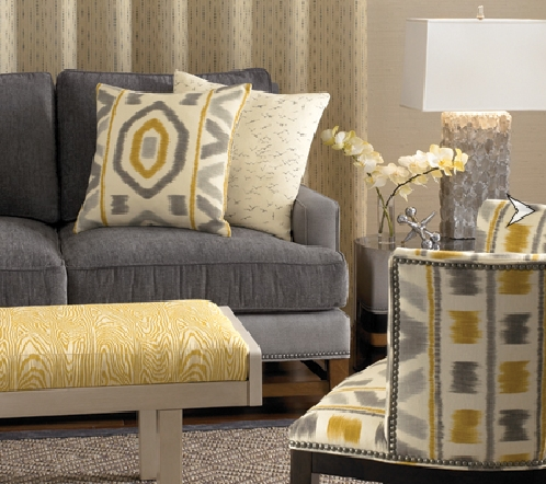 Amazing Of Gray And Yellow Accent Chair I Is For Ikat Ibb At Home Pertaining To Yellow Sofa Chairs (Image 1 of 10)