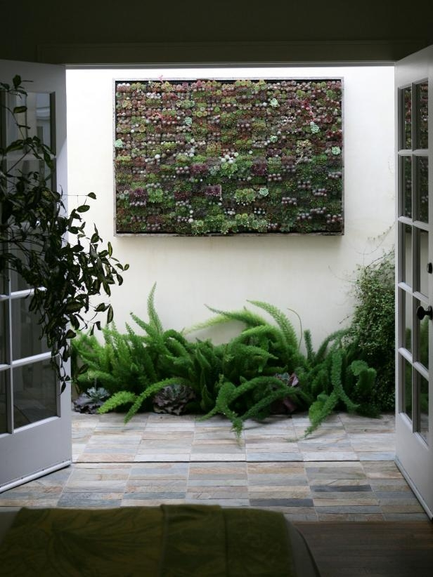 Amazing Outdoor Walls And Fences | Hgtv Within Abstract Garden Wall Art (Image 6 of 20)