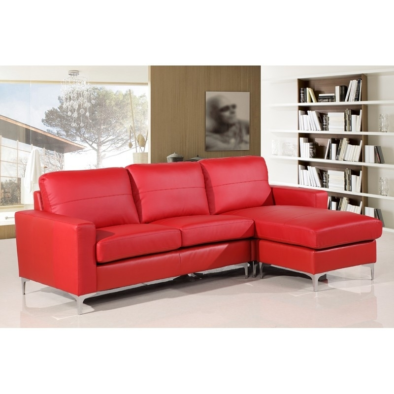 Amazing Red Leather Sofa Inside Sofas Couches Ideas 10 With 13 For Red Leather Sectionals With Chaise (Image 1 of 10)