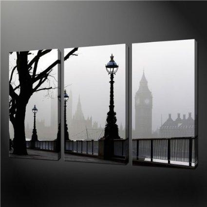 Amazon – 3 Piece Wall Art Painting Pictures Print On Canvas For Canvas Wall Art Of London (Image 6 of 20)