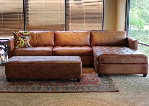 Amazon: Phoenix 100% Full Aniline Leather Sectional Sofa With Inside Sectional Sofas At Amazon (Image 2 of 10)