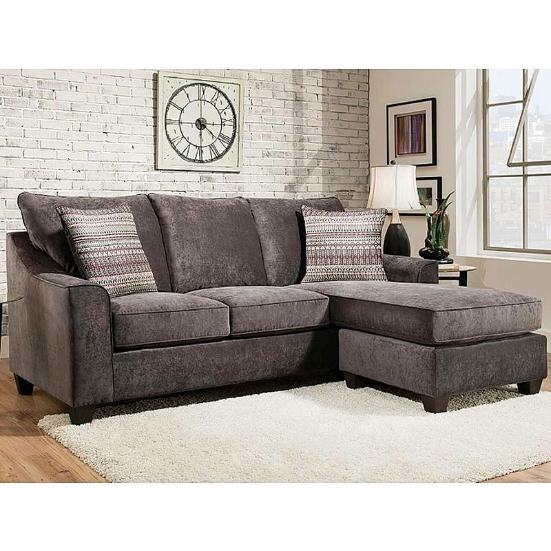 American Furniture Elizabeth Charcoal Sectional Sofa | Living Rooms In Sectional Sofas At Sears (Image 1 of 10)