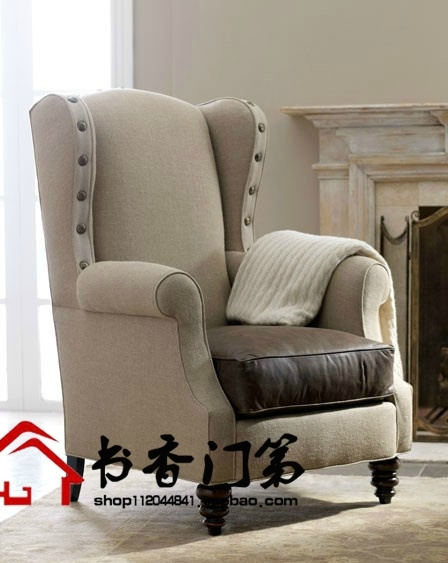 American Village Single European High Backed Chair Tiger Chair For High Back Sofas And Chairs (Image 1 of 10)