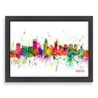 Americanflat Art Pause Perth Colored Skyline Wall Art | Perth And Within Canvas Wall Art Of Perth (Image 8 of 20)
