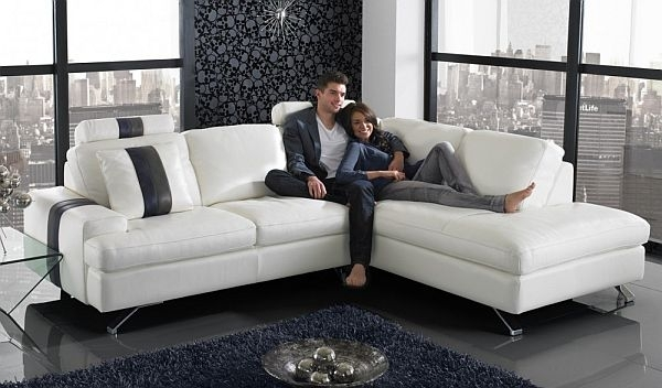 Ancona Minimalist Corner Modern L Shaped Sofa | Eva Furniture Inside L Shaped Sofas (Image 1 of 10)